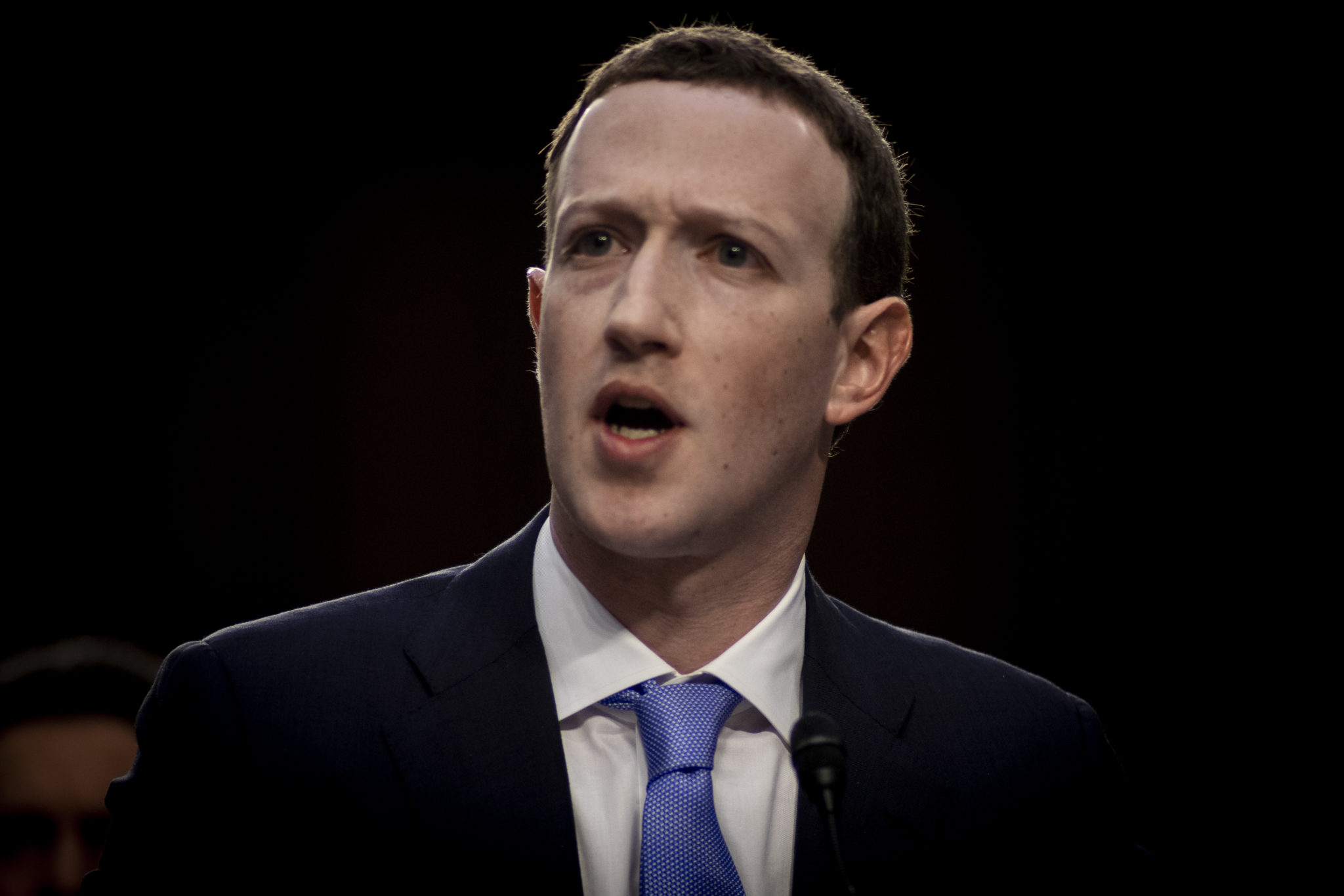 Mark Zuckerberg testifies before the Senate, April 10, 2018