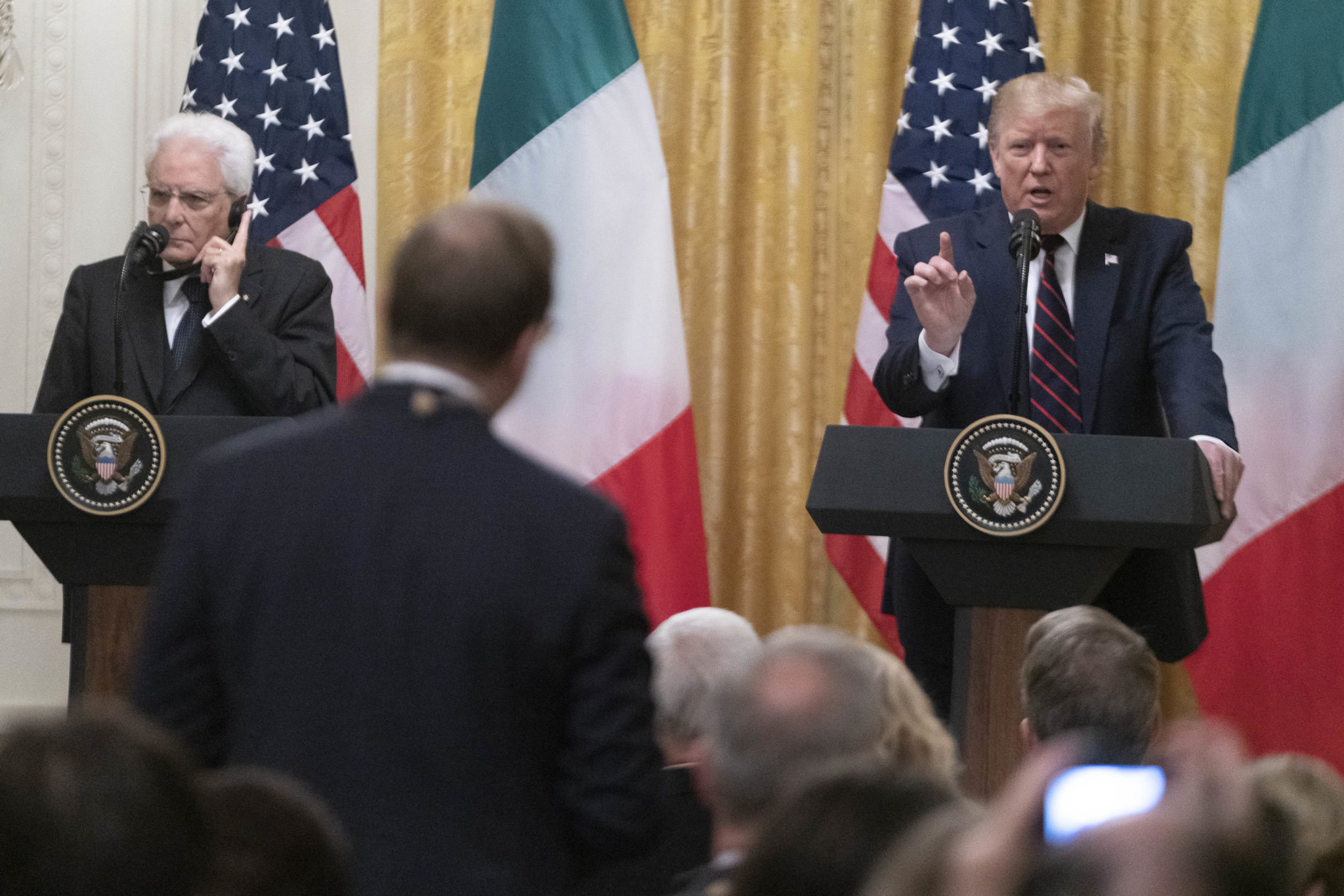 President Donald Trump and President of the Italian Republic Sergio Mattarella, Oct. 16, 2019
