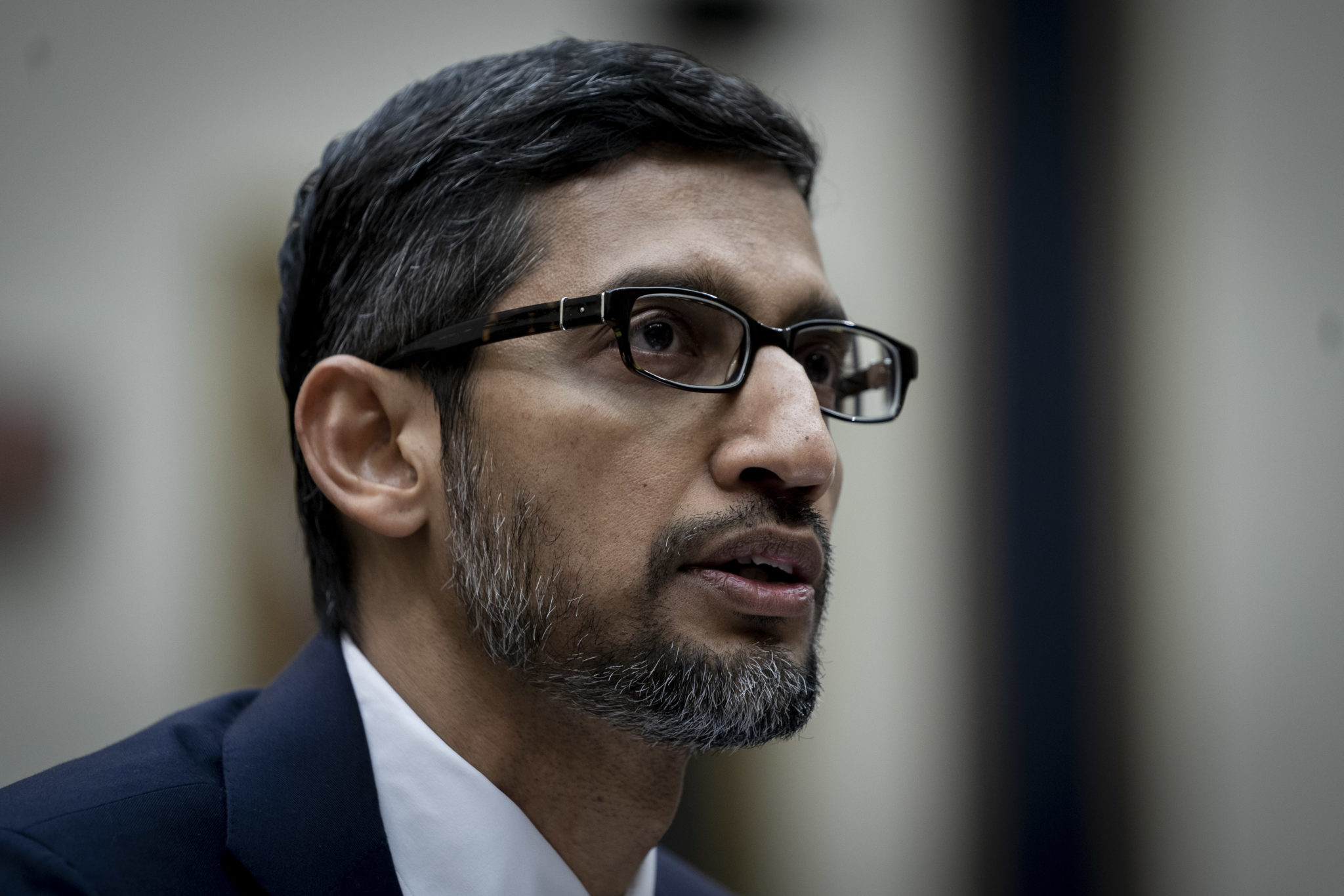 Google CEO Sundar Picha testifies before the House Judiciary Committee, Dec. 11, 2018